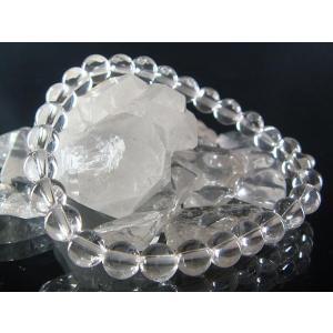 パワーストーン 石 水晶 ブレスレット 6mm クリスタルクォーツ 風水グッズ 開運 送料無料|kouyuu