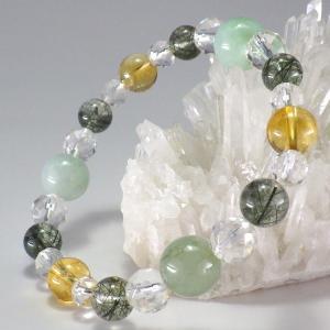 パワーストーン 天然石 石 高級天然石使用 健康運 ブレスレット 翡翠 ペリドット ルチルクォーツ ジェイド 水晶 風水グッズ 開運|kouyuu