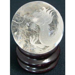 パワーストーン 天然石 原石 龍彫 竜置物 シルバールチルクォーツ 球 106g 龍の置物 風水 開運|kouyuu
