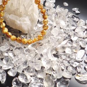 天然水晶 タンブル さざれ 100g 天然石 ...の詳細画像2