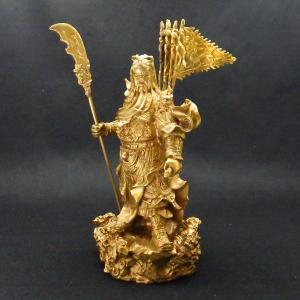 九龍 関羽 商売の神様 風水 開運 グッズ インテリア 銅製 置物 kouyuu