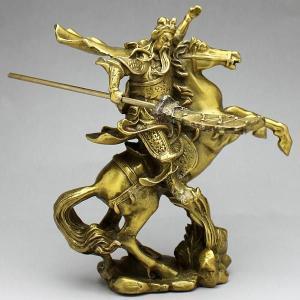 関羽 騎馬 商売の神様 風水 開運 グッズ インテリア 銅製 置物 kouyuu