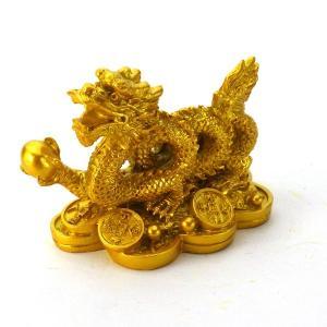 風水グッズ 樹脂製 金銭龍 龍の置物風水 皇帝の五爪龍 風水 開運 龍の置物