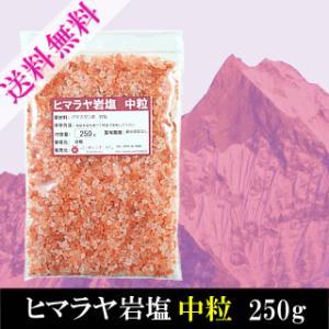 ヒマラヤ岩塩 中粒 250g 送料無料 お試し品 ピンク岩塩 ミル用
