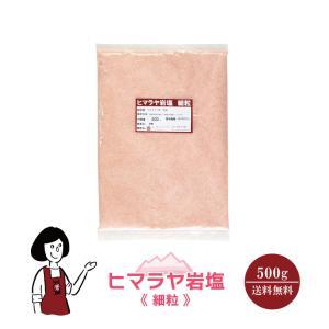 ヒマラヤ岩塩 細粒 500g 送料無料 ピンク岩塩 付け塩 肉料理