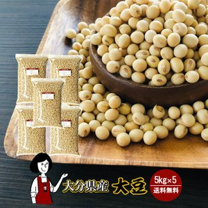 大分県産大豆 規格外 大粒 5kg×5〔チャック付〕令和1年産 「OITA30CP_2020_野菜果物」|kowakeya
