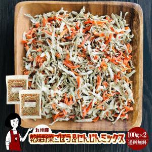 九州産 乾燥野菜ごぼう&にんじんミックス 100g×2 チャック付 kowakeya