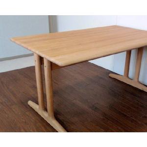 北欧  ダイニングテーブル  W1500オーク無垢材|kowbowmokumoku