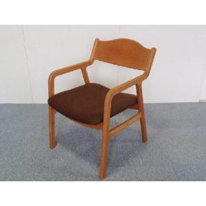 チェアー ダイニングチェアー 椅子 イス Sライン ブラックチェリー無垢板チェア 座面布張り|kowbowmokumoku
