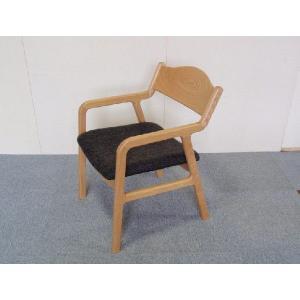 チェアー ダイニングチェアー 椅子 イス Sライン タモ無垢板チェア 座面布張り|kowbowmokumoku