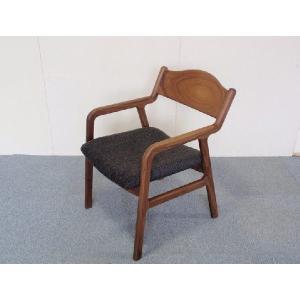チェアー ダイニングチェアー 椅子 イス Sライン ブラックウォールナット無垢板チェア  座面布張り|kowbowmokumoku