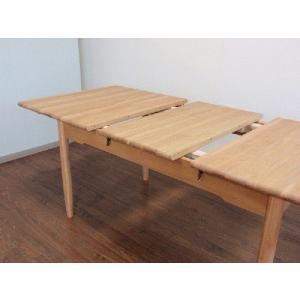 北欧  150−200エクステンション ダイニングテーブル (伸縮式) GF5ー1500 オーク無垢材 伸縮式|kowbowmokumoku