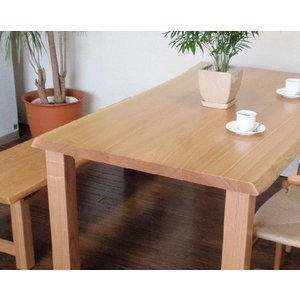 ダイニングテーブル テーブル 無垢 mh40−銘木無垢板タモ材  天板40mm. 巾1600×奥行900×高さ700 kowbowmokumoku