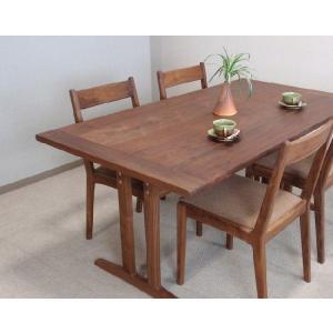 ダイニングテーブル テーブル ブラックウォールナット 無垢  ダイニングテーブル・0808ー1600 kowbowmokumoku