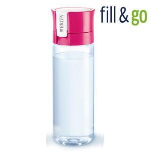 BRITA fill&go 0.6L ブリタ フィル&ゴー ボトル型浄水器(カートリッジ1個付属)カラー:ピンク|koyama-p