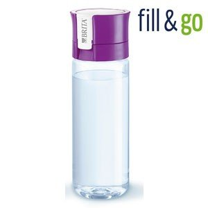 BRITA fill&go 0.6L ブリタ フィル&ゴー ボトル型浄水器(カートリッジ1個付属)カラー:パープル|koyama-p