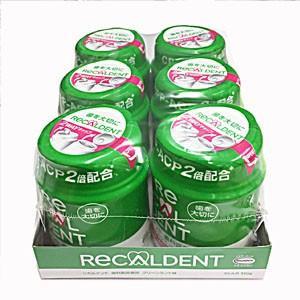 リカルデントガム グリーンミント味 140g×6個 歯科用 ガム|koyama-p