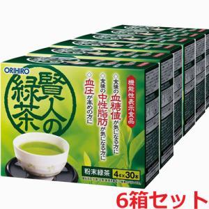 オリヒロ 賢人の緑茶 7g×30本×6箱(難消化性デキストリン&GABAの2つの機能性関与成分を配合した機能性表示食品)|koyama-p