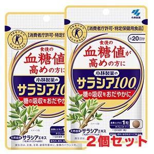 ゆうメール発送・送料無料【代引不可】小林製薬 サラシア100 60錠(約20日分) ×2個 特定保健用食品|koyama-p