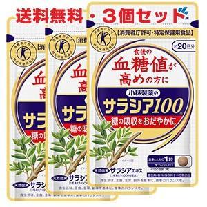 小林製薬 サラシア100 60錠(約20日分) ×3個 特定保健用食品|koyama-p