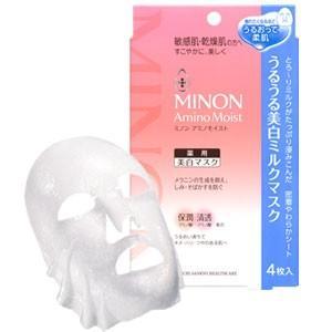 ミノン アミノモイスト うるうる美白ミルクマスクは肌あれと美白を同時にケア とろ〜りミルク美容液で ...