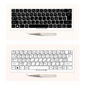 US-International マルチリンガルキーボードラベル シール 貼付用ピンセット付属 koyo-luxol