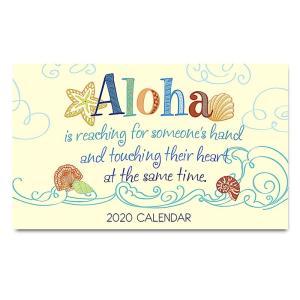 送料無料! 2020年ハワイカレンダー(ミニサイズ)ハワイアンダイアリー/スケジュール帳/マンスリーカレンダー Aloha Is アロハ・イズ|koyomi10