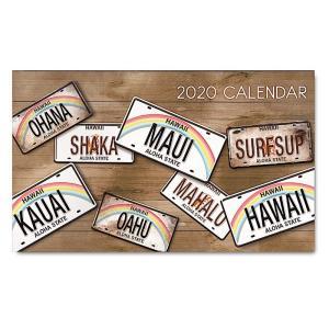 2020年ハワイカレンダー(ミニサイズ)ハワイアンダイアリー/スケジュール帳/マンスリーカレンダー  License Plates ライセンス・プレート|koyomi10