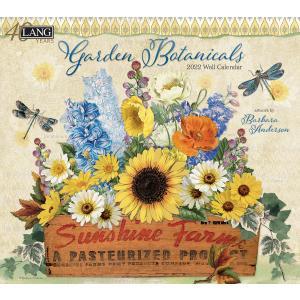 送料無料!2021年 ラング社カレンダー Garden Botanical  ガーデン・ボタニカル Barbara Anderson|koyomi10
