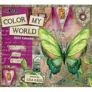 送料無料!2021年 ラング社カレンダー(Lang) Color My World  カラー・マイワールド Lisa Kaus|koyomi10