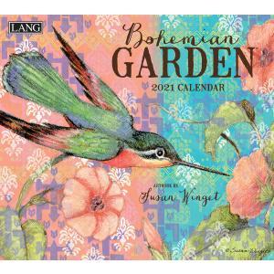 送料無料!2021年 ラング社カレンダー(Lang) Bohemian Garden  ボヘミアン・ガーデン Susan Winget|koyomi10