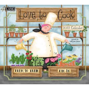 送料無料!2021年 ラング社カレンダー(Lang) Love to Cook   ラブ・ツウ・クック  Lori Lynn Simms|koyomi10