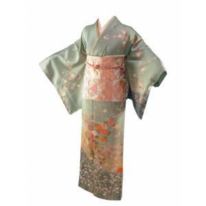 訳あり お仕立て上がり 正絹 訪問着 着物 単品 身丈153.0cm sh-28|koyuki