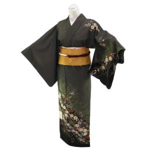 付け下げ 着物 袋名古屋帯 帯揚げ 帯締め 4点セット Lサイズ ts-2|koyuki