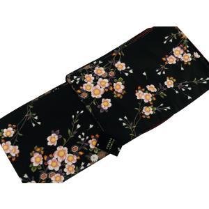 ナカノヒロミチ 袷 あわせ  着物 洗えるきもの 小紋  M・Lサイズ bk-16 黒地|koyuki