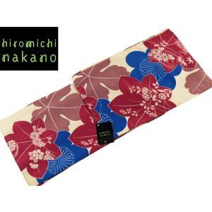 ssi ナカノヒロミチ 袷あわせ 着物 洗えるきもの 小紋  M Lサイズ nk-83 クリーム 紅葉|koyuki