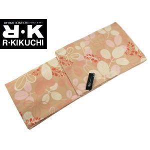RK キクチリョウコ 袷 小紋 着物 フリーサイズ 淡茶 pk-127|koyuki