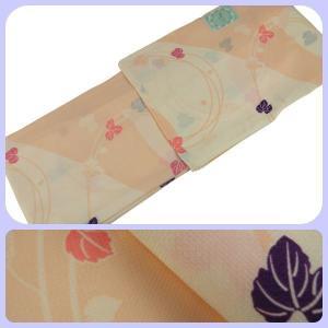 ssi 単衣 ひとえ  着物 全体に柄がある 小紋柄 Mサイズ hi-13 オレンジ系|koyuki