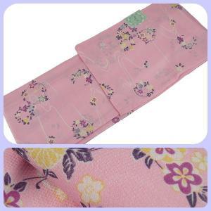 ssi 単衣 ひとえ  着物 全体に柄がある 小紋柄 Mサイズ hi-14 ピンク系|koyuki