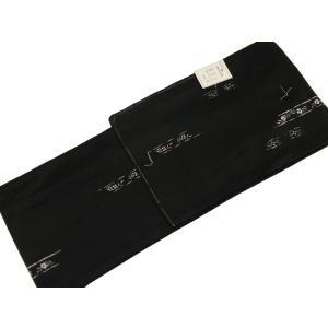 タテ絽 夏 着物 全体に柄がある 小紋柄 M・Lサイズ ro-121 黒系|koyuki