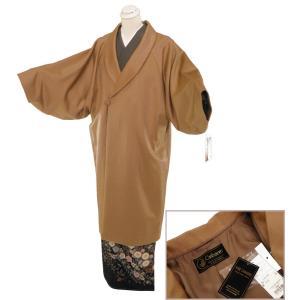 防寒用 カシミヤ へちま衿 和装コート ロングコート フリーサイズ co-5 キャメル|koyuki