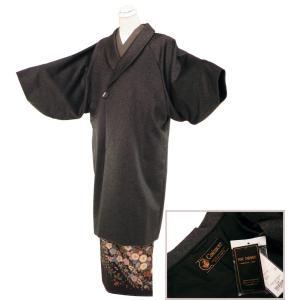 防寒用 カシミヤ へちま衿 和装コート ロングコート フリーサイズ co-6 ダークグレー|koyuki