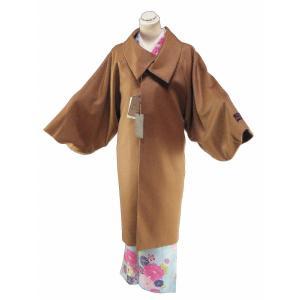 バルマン 防寒用 カシミヤ100% ロールカラー コート 和装コート ロングコート M・Lサイズ co-14 モカ|koyuki