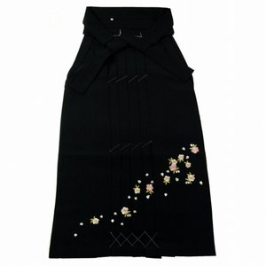 はかま さくら刺繍 袴 単品 ブラック S〜LLサイズ hs-71 koyuki