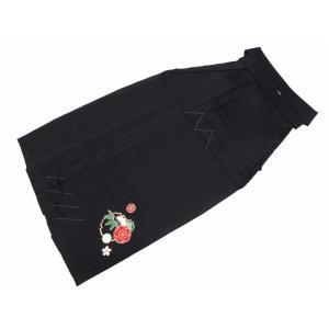 はかま 無地 刺繍入り 袴 単品 ブラック Mサイズ hs-72 koyuki