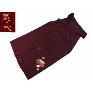 夢千代 はかま 袴 単品 刺繍袴 エンジ hs-76 M・Lサイズ koyuki