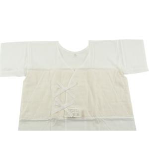 あしべ織 汗取肌着 和装肌着 脇パッド付き 半襦袢 M・L・LLサイズ|koyuki|02