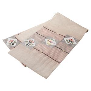 正絹 お仕立て上がり お洒落 夏用 袋帯 na-5 ブラウン系|koyuki|02