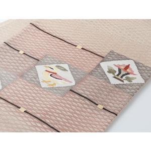 正絹 お仕立て上がり お洒落 夏用 袋帯 na-5 ブラウン系|koyuki|03