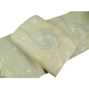 京 西陣高級袋帯 聖涼織成帯 美波里 夏用 正絹 袋帯 na-13 アイボリー系 お仕立て付き|koyuki|03